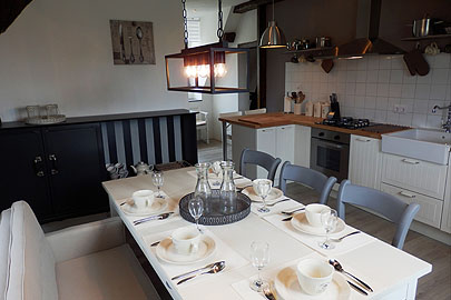 Kitchen suite Aout Chateau La Mothaye Loire Bed and Breakfast B&B