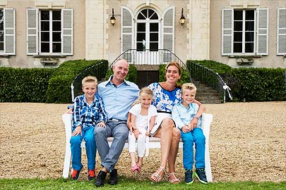 Our familie at Chateau la Mothaye - BB and Gites