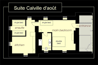 Suite Calville d aout Chateau Loire La Mothaye Bed and Breakfast B&B map
